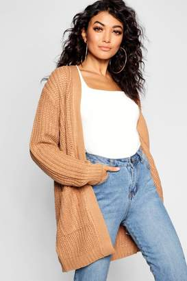 boohoo Chunky Pocket Cardigan