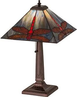 """Tiffany & Co. Meyda Prairie Animals Dragonfly 21"""" Table Lamp Meyda"""