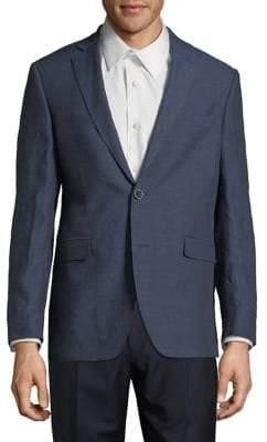 Black & Brown Black Brown Slim-Fit Linen Sportcoat