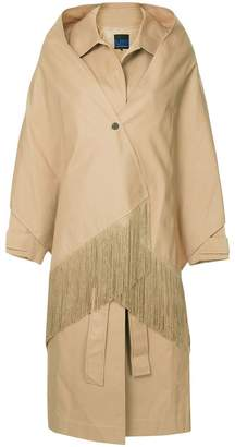 Sjyp shawl detailed trench coat