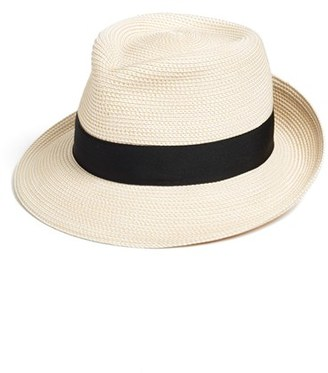 Women's Eric Javits 'Classic' Squishee Packable Fedora Sun Hat - Ivory $250 thestylecure.com