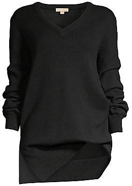 Michael Kors Women's Asymmetric Cashmere V-Neck Sweater