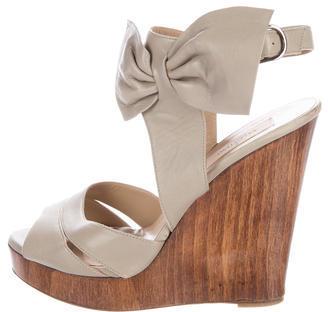 ValentinoValentino Leather Wedge Sandals