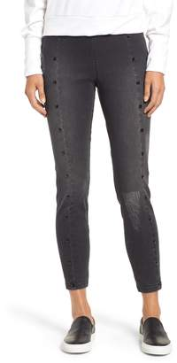 ZEZA B BY HUE Studded High Waist Denim Leggings