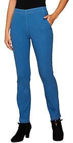Denim & Co. Regular Slim Straight LegPull-On Jeans