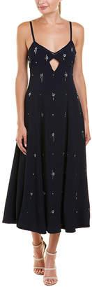 Derek Lam 10 Crosby Embellished Silk-Blend Slip Dress