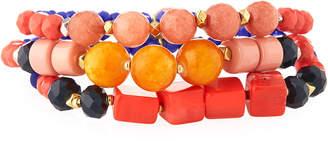 Nakamol Mixed Beaded Bracelets, Set of 3