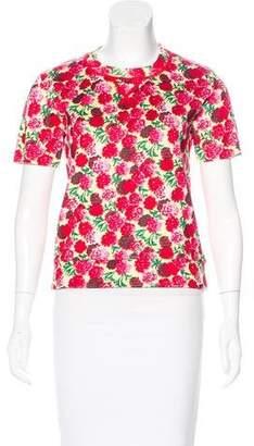 Marc Jacobs Floral Print Knit Top