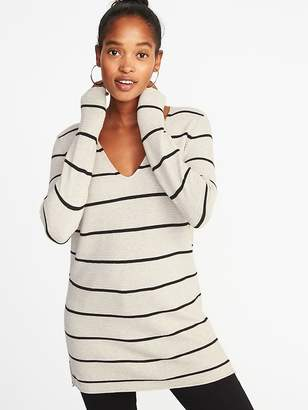 Old Navy Textured V-Neck Tunic Sweater for Women