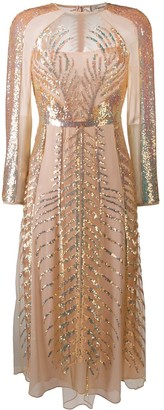 Temperley London Dusk sequin-embellished silk dress