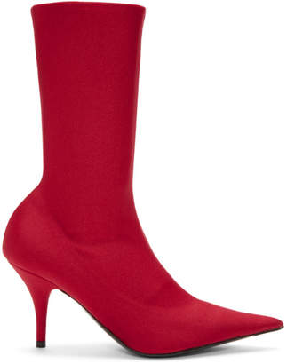 Balenciaga Red Knife Boots