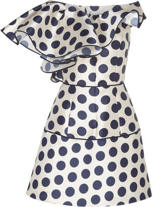 Dice Kayek Polka Dot Structured Mini Dress