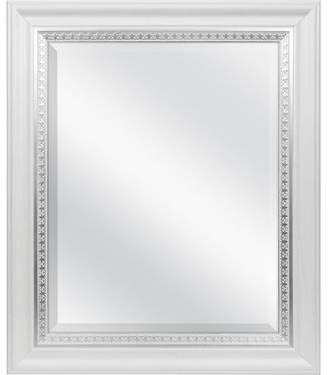 MCSIndustries Farmhouse Woodgrain and Leaf Accent Wall Mirror