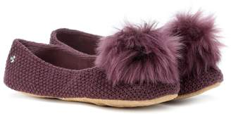 UGG Andi fur-trimmed slippers