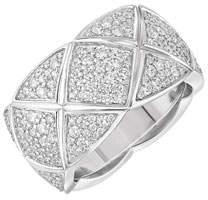 Chanel Coco Crush Ring In 18k White Gold & Diamonds, Medium Version