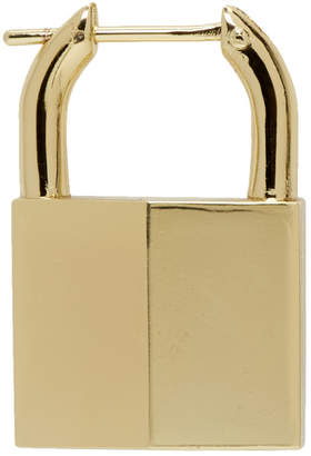 Lauren Klassen Gold Single Padlock Earring