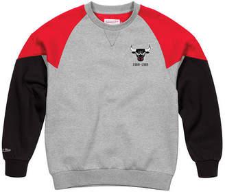 Mitchell & Ness Men Chicago Bulls Trading Block Crew Sweatshirt