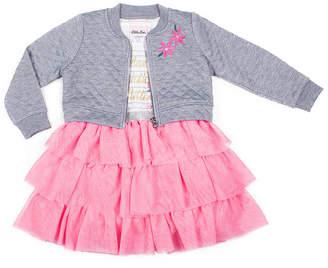 6958158cba Little Lass Short Sleeve Pattern A-Line Dress - Baby Girls