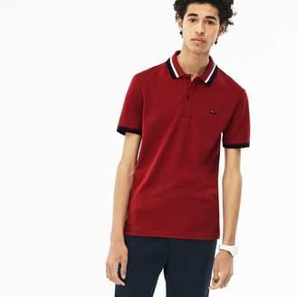 Lacoste Men's Slim Fit Contrast Accents Stretch Pima Pique Polo