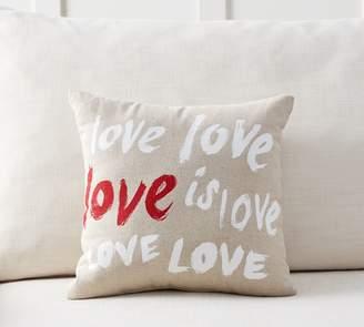 Pottery Barn Love is Love Sentiment Pillow