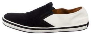 Marc Jacobs Suede Square-Toe Slip-On Sneakers