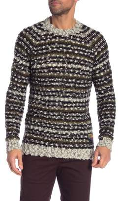 Scotch & Soda Multicolor Stripe Boucle Sweater