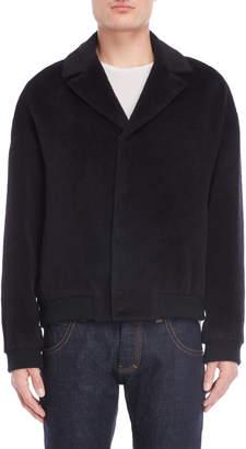 Emporio Armani Black Llama Hair Jacket