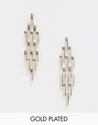 Fiorelli gold plated link earrings