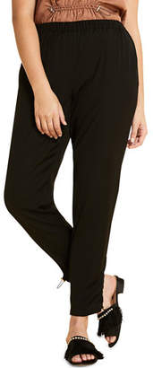 Marina Rinaldi Plus Size Ribalta High-Rise Pull-On Ankle Pants