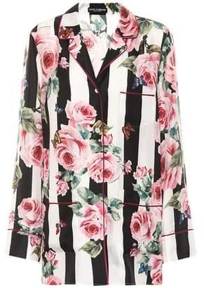 Dolce & Gabbana Printed silk pyjama shirt