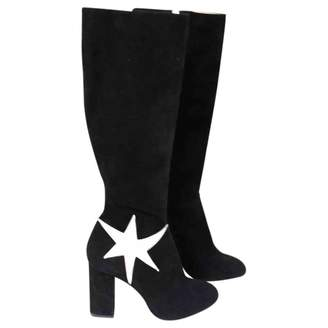 Charlotte Olympia Black Suede Boots