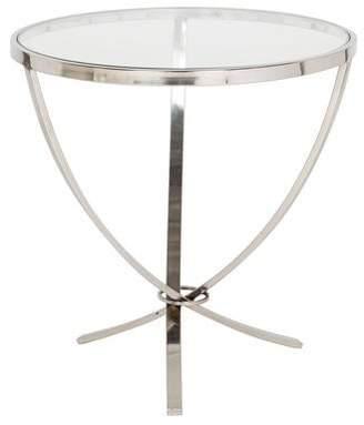 Glass & Steel Side Table