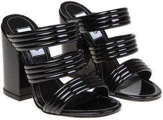 Kenzo Black Leather Sandals