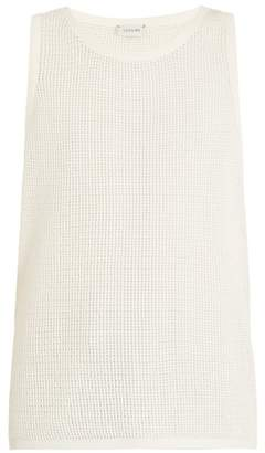 Lemaire Cotton Mesh Tank Top - Mens - White