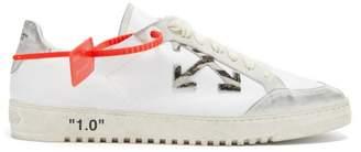 Off-White Off White 2.0 Logo Applique Leather Trainers - Mens - White