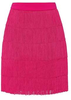 Stella McCartney Fringed crêpe miniskirt