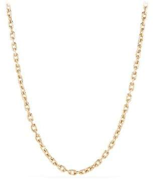 David Yurman Chain Link Narrow Necklace In 18K Gold