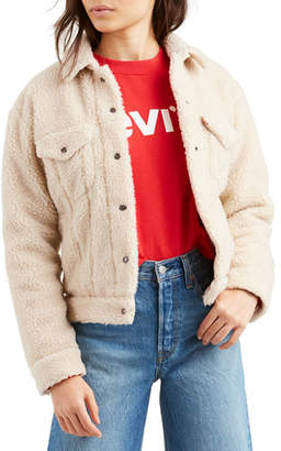 Levi's Premium Sherpa Snap-Front Trucker Jacket