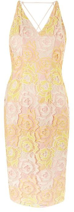 Topshop Topshop Flower strap crossback midi dress