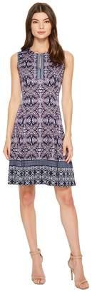 Maggy London Jewel Box Scuba Fit Flare Dress Women's Dress