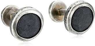 Rotenier Labradorite Hammered Disc Cufflinks Set
