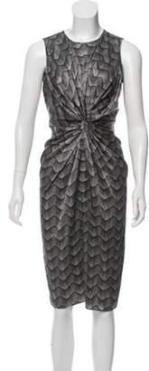 Armani Collezioni Silk Printed Dress Grey Silk Printed Dress
