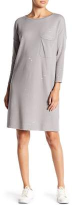ATM Anthony Thomas Melillo Distressed Knit Pocket Dress