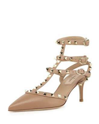 Valentino Rockstud Caged 65mm Pump, Alpaca $995 thestylecure.com