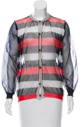 Marni Striped Mesh Cardigan