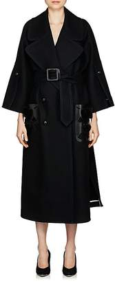 Fendi Women's Fur- & Leather-Trimmed Wool Coat