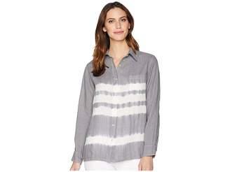 Allen Allen Tie-Dye Long Sleeve Shirt Women's Long Sleeve Button Up