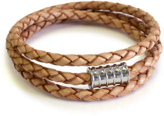 Liza Schwartz Jewelry Braided Leather Wrap Bracelet
