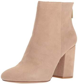 Kenneth Cole New York Women's Caylee Dress Block Heel Suede Ankle Bootie