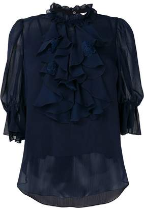 See by Chloe frilly ruffle trim blouse